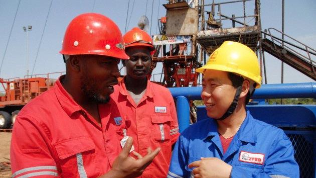 Construção chinesa na África do Sul (via Wanafrica).