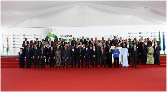 Delegações dos estados africanos e da UE em Abidjan, na Costa do Marfim. Via au.int