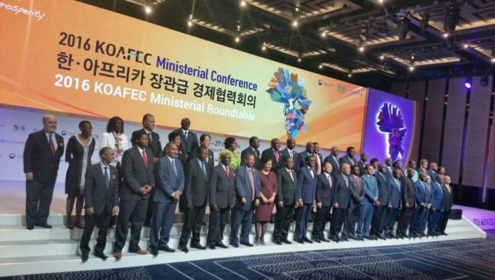 Delegados africanos e sul-coreanos que participaram da última edição em 2016. Via nigrizia.it