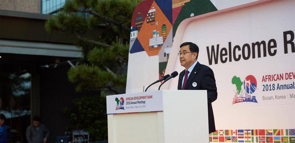 Encontro anual do Banco de Desenvolvimento Africano, que ocorreu em 2018 na cidade de Busan, Coreia do Sul. Via ABD.
