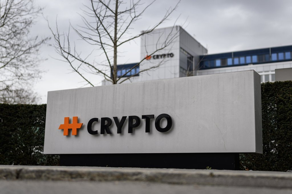 Sede da Crypto, empresa suíça de criptografia, na cidade de Steinhausen, na Suíça. Foto por Fabrice COFFRINI / AFP.