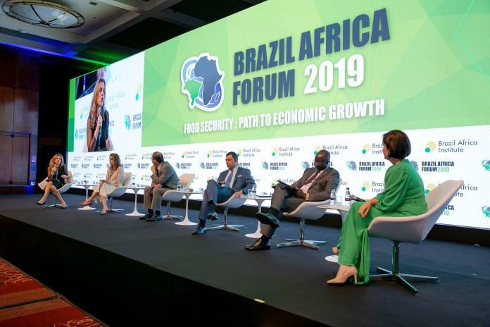 Palestra durante o VII Fórum Brasil-África. Foto via forumbrazilafrica.com.