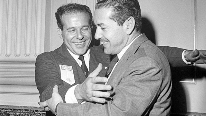 João Goulart e Leonel Brizola na década de 1960. Fotógrafo desconhecido.