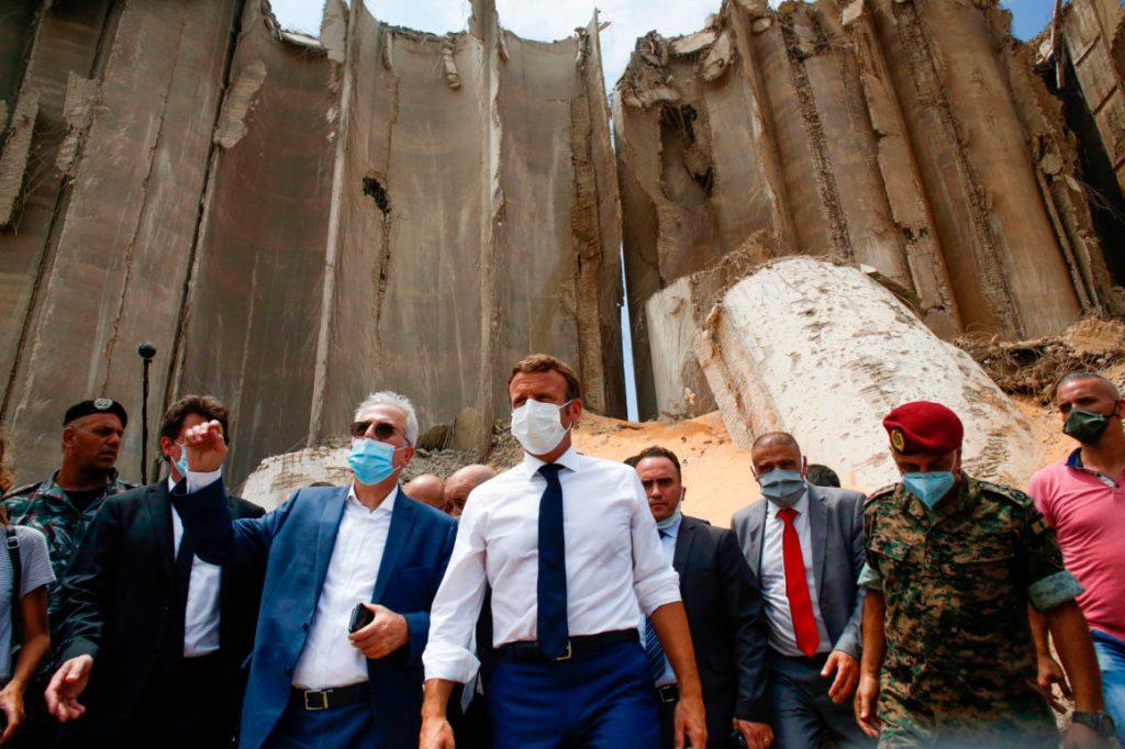 Macron ofereceu uma 'cenoura' às elites do Líbano. Foto por Thibault Camus.